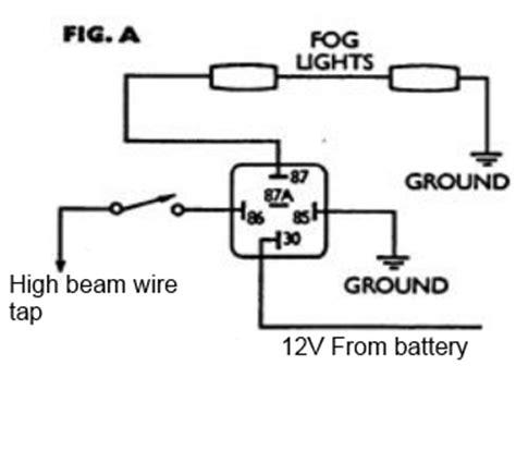 highbeam headlight wiring diagram