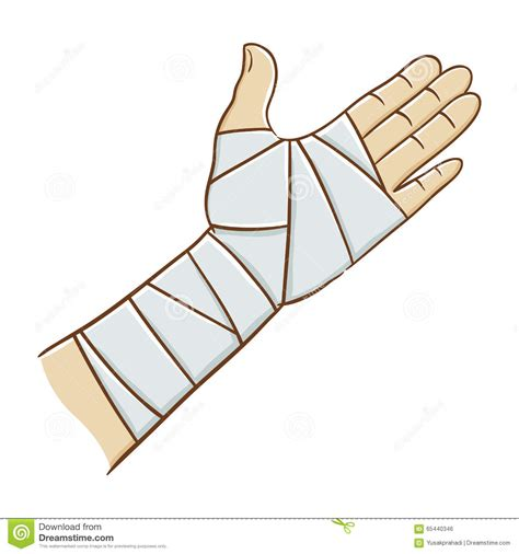 clipart mano injured wrapped in elastic bandage vector