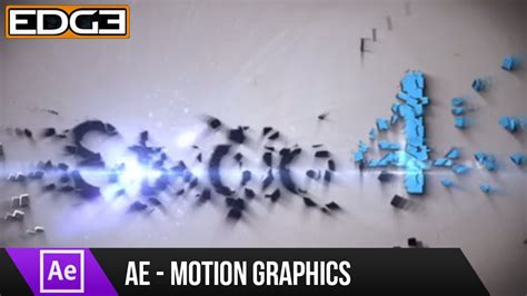tutorial motion design after effects after effects tutorial shatter motion graphics effect hd