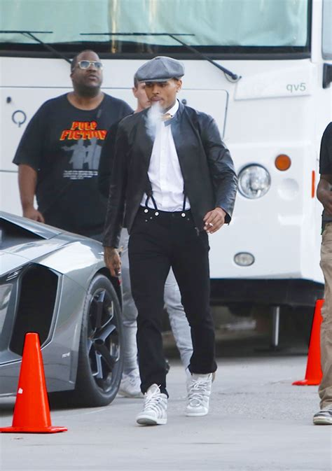Chris Brown Wardrobe by Chris Brown Wears Maison Martin Margiela Suede Mesh And