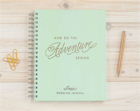 Wedding Journal by Wedding Journal With Gold Foil Wedding Planner Book