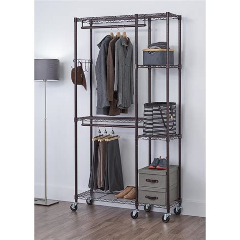 Steel Closet Organizer by 77 In H X 41 In W X 14 In D Bronze 5 Shelf
