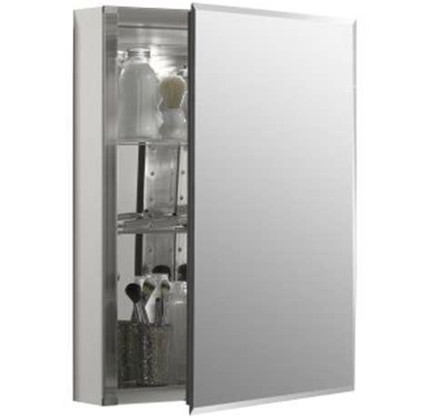Medicine Cabinet Door Hinges Kohler K Cb Clc2026fs Silver Aluminum 20 Quot X 26 Quot Single Door Reversible Hinge Frameless Mirrored