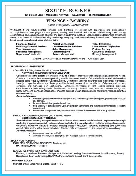 one of recommended banking resume exles to learn