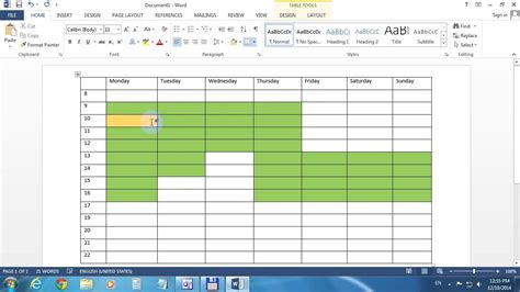 Change Table Color How To Change Table Cell Color In Word 2013