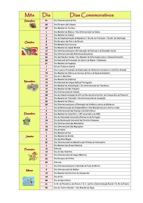 Calendario E Datas Comemorativas 2015 Datas Comemorativas 2012 2013