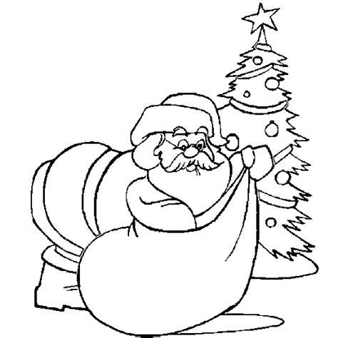 christmas tree and santa coloring pages free coloring pages of santa christmas tree