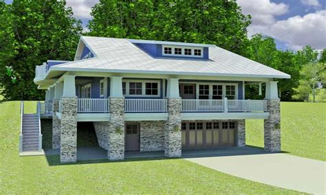 Log Cabin Open Floor Plans by Hillside Home Plans With Walkout Basement Small Hillside
