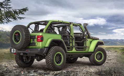 mopar jeep mopar customized 2018 jeep wrangler pair steals the show