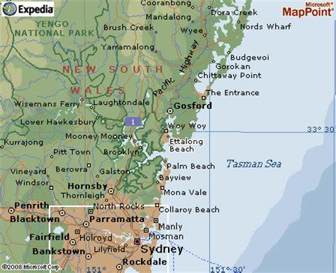 central coast australia map central coast map and central coast satellite image