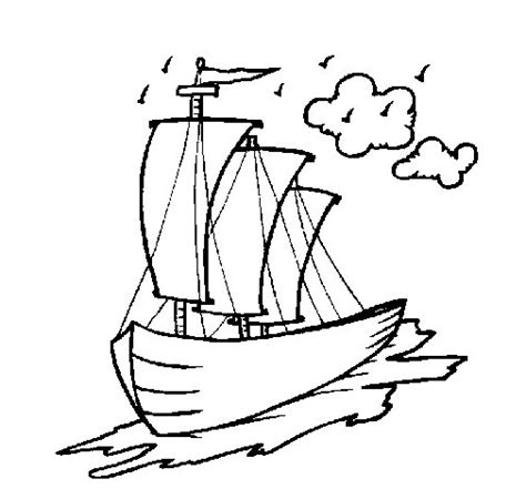 imagenes de barcos para dibujar faciles dibujo de barco velero para colorear dibujos net