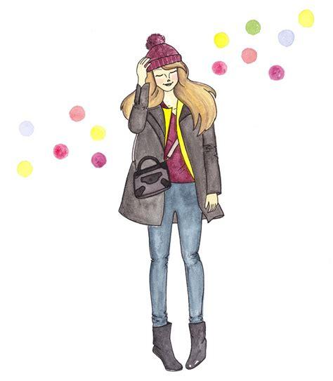 fashion illustration winter wear lorna raindrops fashion ilustrated in water colour