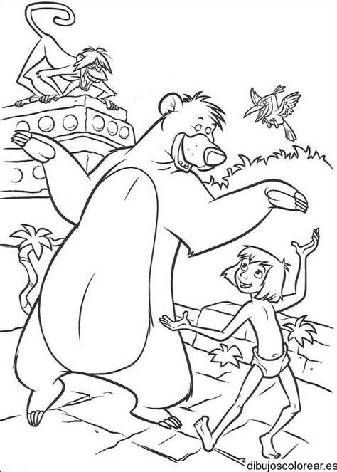 Dibujo de los personajes del Libro de la selva
