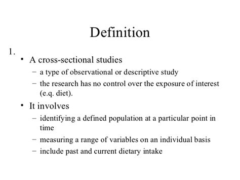 define cross sectional method cross sectional study overview