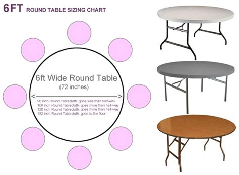 what size tablecloth for 6ft table