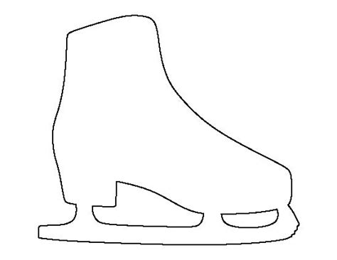 Skateboard Clipart Outline Pencil And In Color Skateboard Clipart Outline Bauer Skate Sizing Template