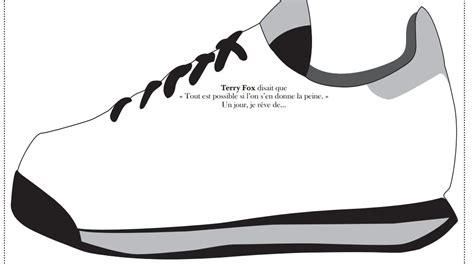 coloring pages terry fox terry fox sneaker activity primary french imm
