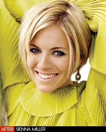 that hair that smile who would believe that actress sienna miller vogue and hair cut on pinterest