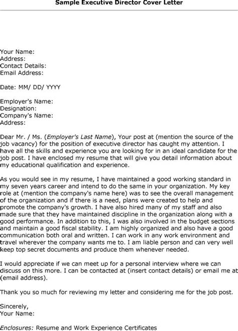 Cover Letter Exles Nonprofit Executive Director Cover Letter Sle Recentresumes