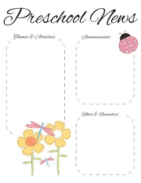 preschool spring newsletter template 2 the crafty