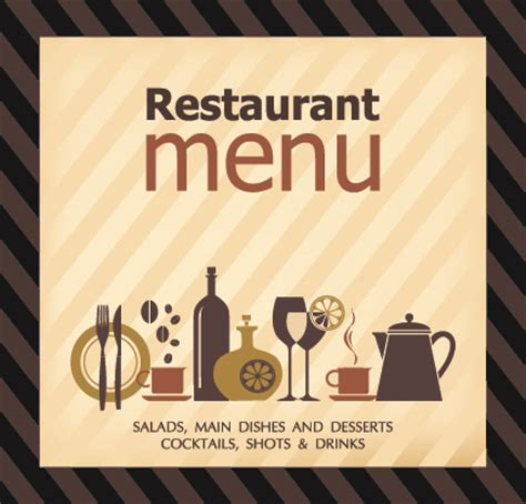 restaurant cover layout delicate restaurant menu cover design vector 01 vector