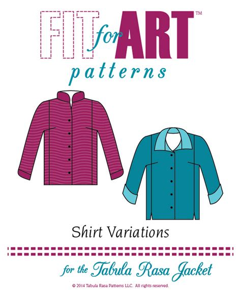 shirt variation pattern fit for art shirt variations for the tabula rasa jacket