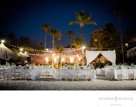 beach reception setup   Aruba Wedding Photographer   Elnathan Hijmering Photography