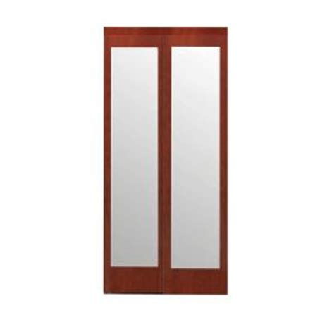 Mirror Closet Sliding Doors Home Depot by Impact Plus 60 In X 96 In Mir Mel Cherry Mirror Solid