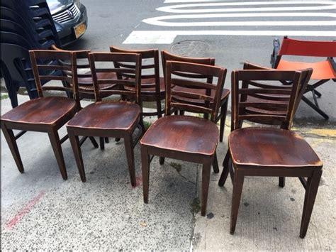 wood chairs reuse america vintage warehouse 387 bushwick