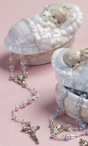 Pink Rosary and holder   Rosary Beads, Pendants & Medals