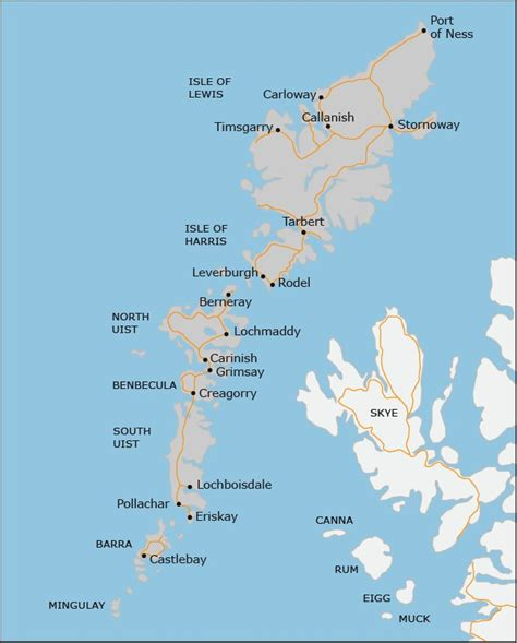 map of isles western isles accommodation hotels guest houses bed and breakfast self catering cottages