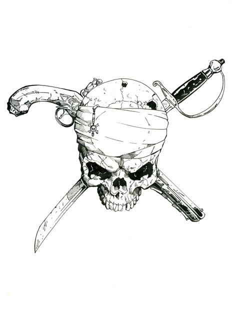 super pirate skull by wiskybb64 on deviantart