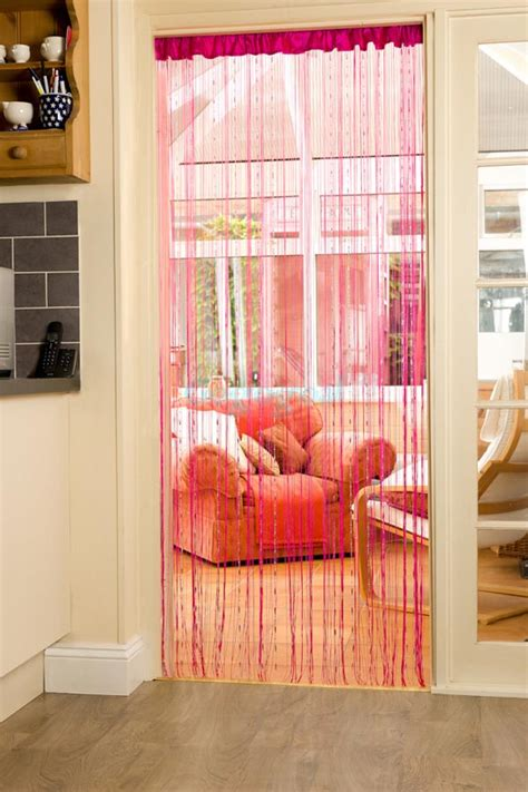 Diy Beaded Door Curtains String Door Curtain With Window Treatments Design Ideas