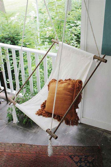 diy indoor swing chair 25 awesome outside seating ideas you can make with