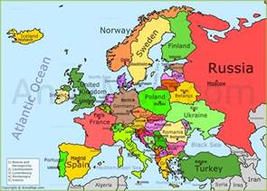 Europe Political Map by Europe Map Political Map Of Europe With Countries