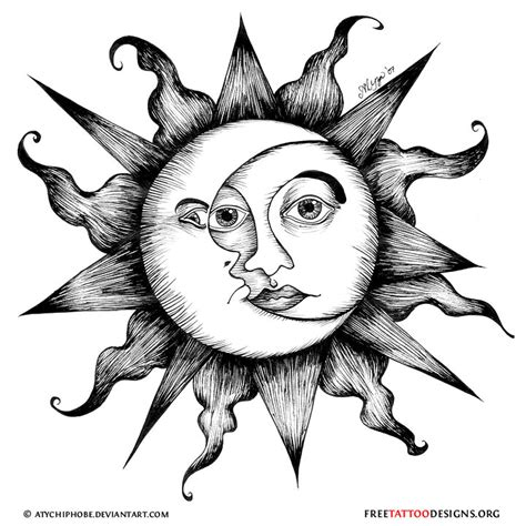 sun and moon tattoo design 65 sun tattoos tribal sun designs