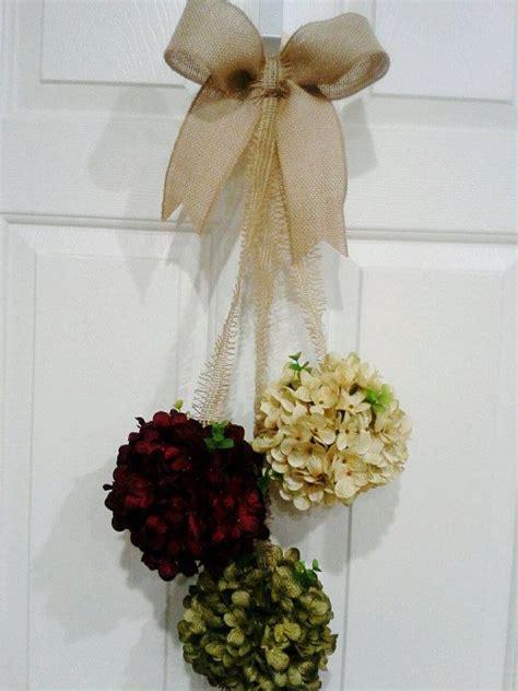 hydrangea floral door swag front door  wreathsforbabies
