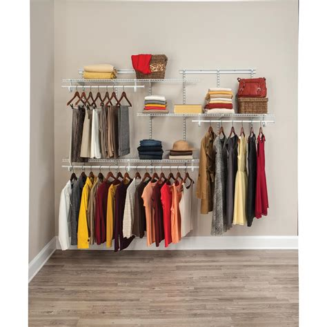 closetmaid 5 feet 10 feet closetmaid shelftrack 5 ft to 8 ft white wire closet