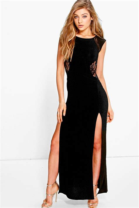 Nr Maxi Dress Gamis Longdress Baby lace insert maxi dress black shopping