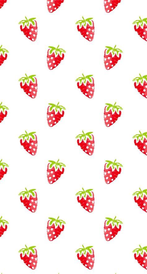 Fruity Iphone 6 6s 6 6s 7 7 Hardcase Bening 模様イラストフルーツイチゴ赤女子向け wallpaper sc iphone6s壁紙