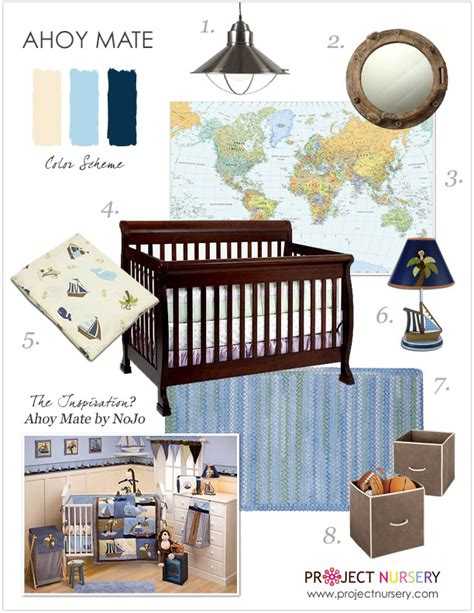 Ahoy Mate Crib Bedding Pirate Themed Design For A Boy S Nursery