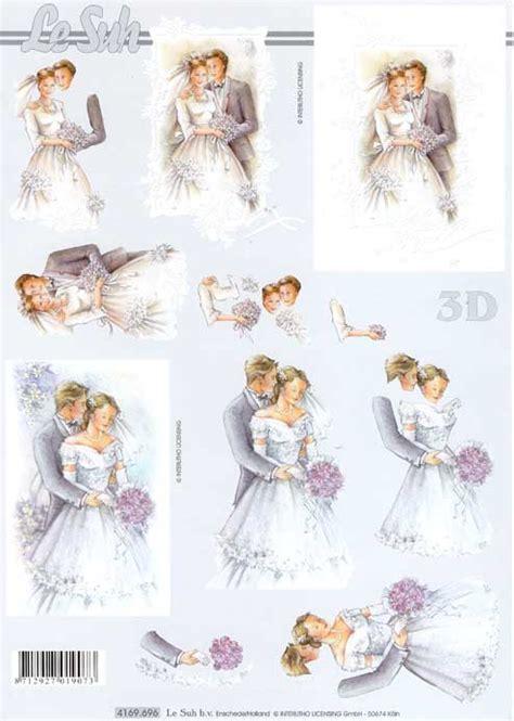 wedding couple   decoupage sheet