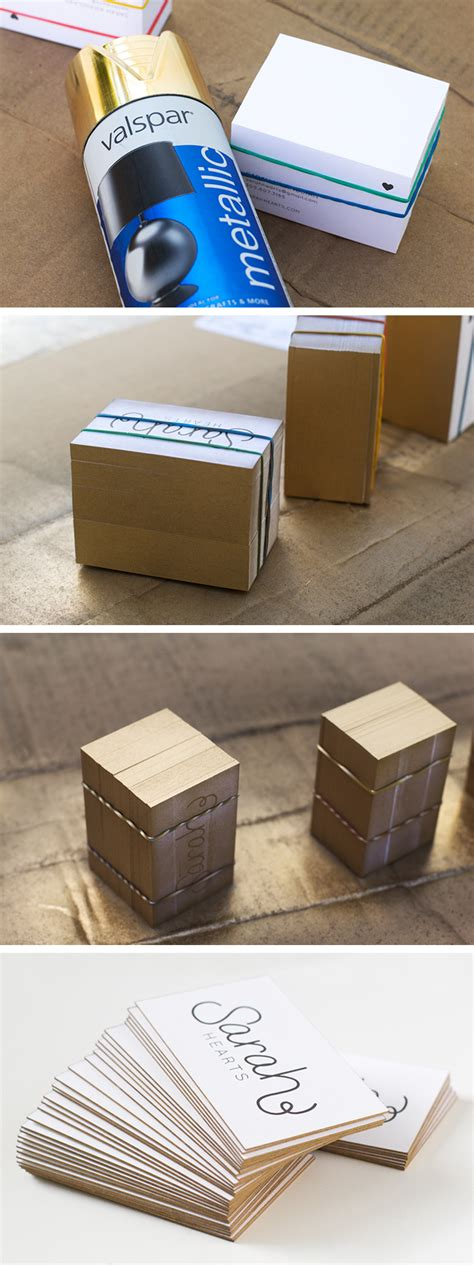Gold Edge Business Cards