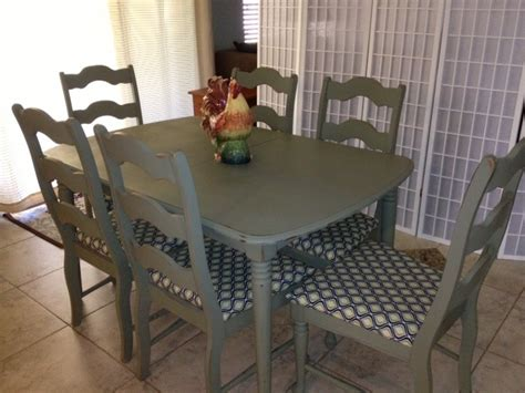 painted french provincial dining room table  chairs