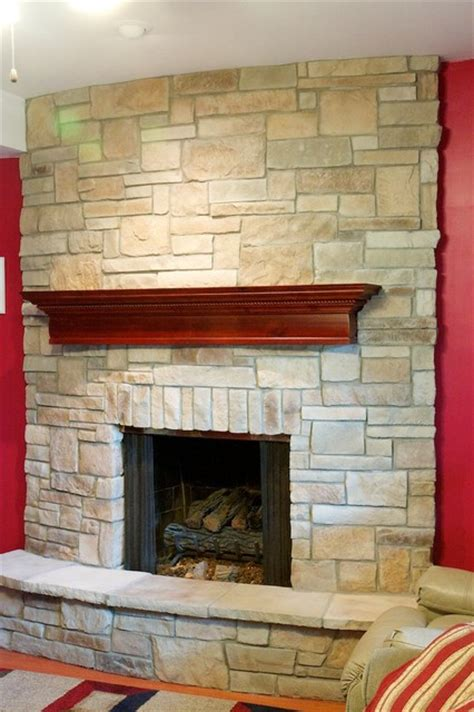 stone fireplaces  wood mantels traditional family