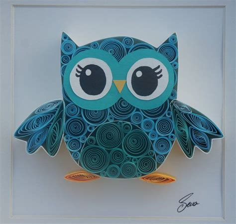 Paper Owls - quilled paper lovely owl quilling artworks and