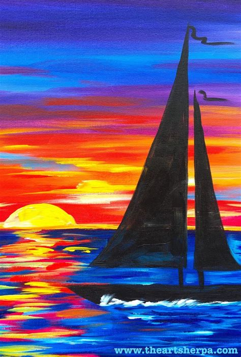 sailboat easy the 25 best sailboat painting ideas on pinterest sunset