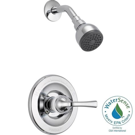 1 Handle Shower Faucet by Delta Porter Single Handle 3 Spray Shower Faucet In