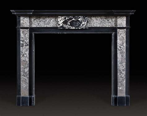 antique kilkenny black marble fireplace mantel of george