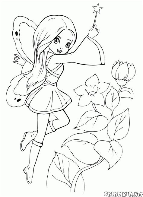 elf magic coloring pages coloring page fairy with a magic wand